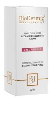 Krem do szyi i dekoltu z ekstraktem z pereł Pearl glow series neck and decolletage cream BIODERMIC 50 ml.