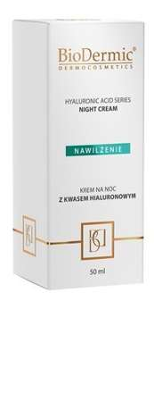 Krem na noc z kwasem hialuronowym Hyaluronic acid series night cream BIODERMIC 50 ml.